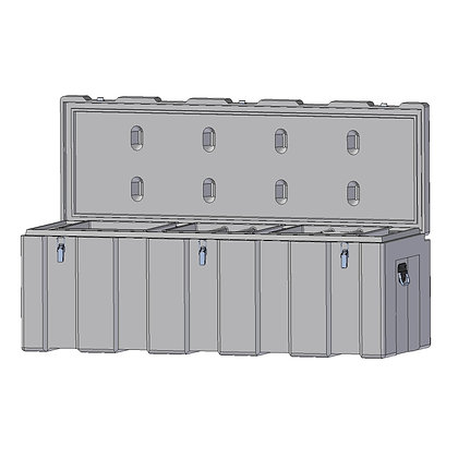 Indac 1600 Toolbox, Ultra Tough and Sturdy Polyethylene Plastic Toolbox with Stainless Steel Fittings