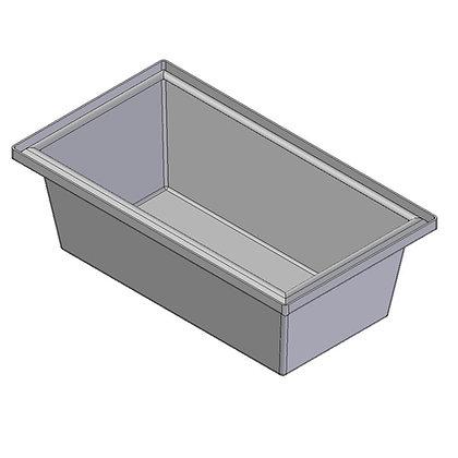 Polyethylene plastic rotomoulded 45 litre trough bin