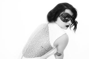 Mask & White dress