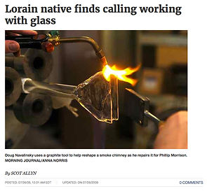 Lorain Native Finds Calling Working with Glass