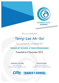 OCA Graduation Material