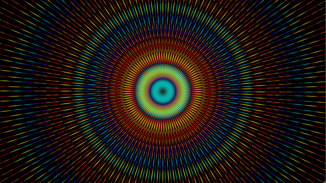 esplosione di colore colori raggi