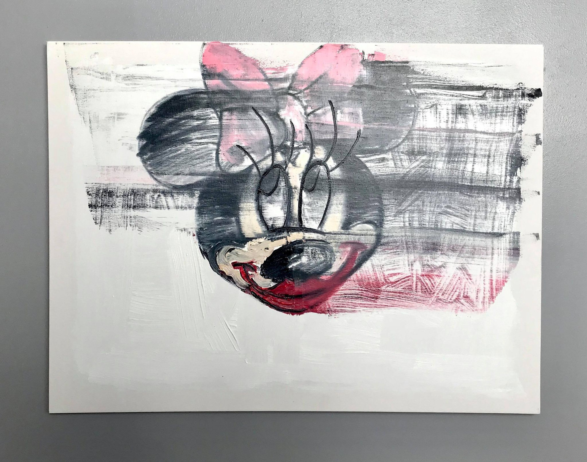 Minnie Mousy (2020), Oil Painting, Dimensions: 23.5 x 31.5 inches