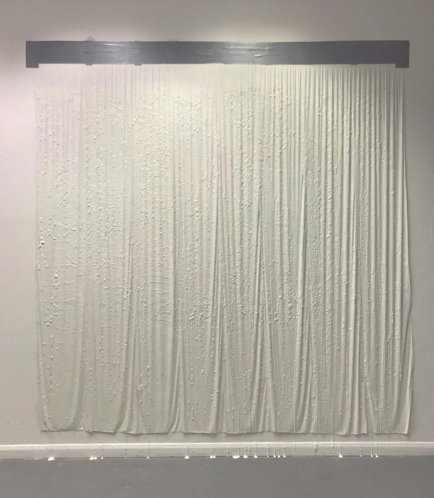2019, Boiling Point #2, Veil, Insitu-Painting, 128 Gallery, University of Brighton