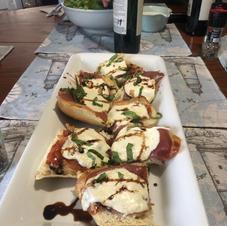 Prosciutto, Buffalo Mozzarella & Balsamic Reduction.... another gastronomic experiment!