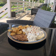 Biscuits and Gravy on the front porch