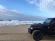 Jake the jeep loves the beach