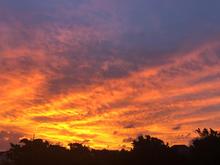 Sunset sky over the Inn