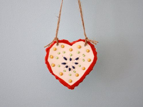 'Dribble' Heart Hanging Decoration