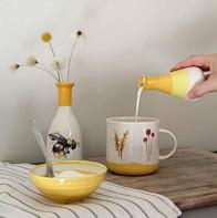 Yellow Mug, Bee Vase