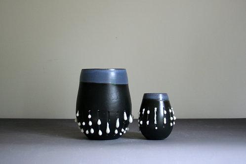 'Dribble' Tumbler & Mini Pot Set- Black & White