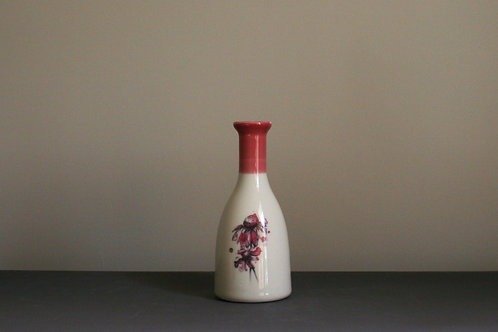 Small Bottle Vase- Pink Daisies