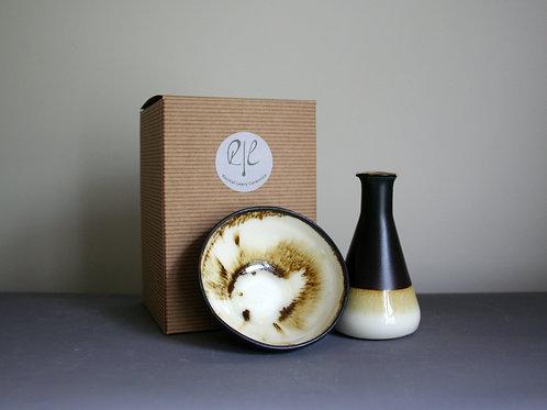 Milk Jug and Sugar Bowl Set- Brown