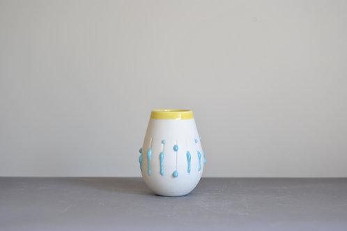 Mini 'Dribble' Pot-Yellow Rim