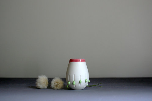 Mini 'Dribble' Pot-Pink Rim