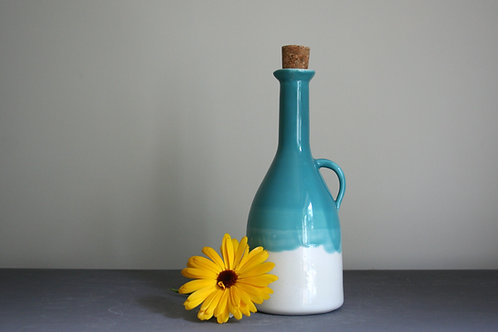 Oil/Vinegar Bottle Bottle- Teal Blue