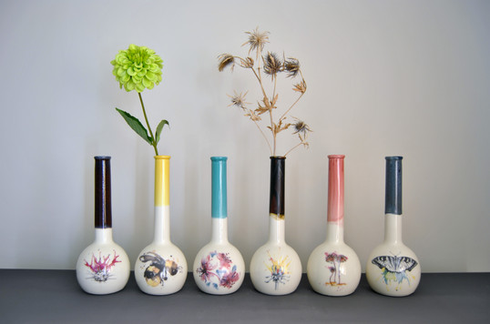 Watercolour Collection (Tall Bottle Vase