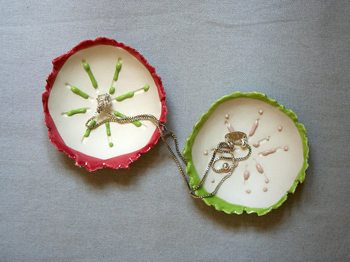 Set of 2 'Dribble' Trinket Dishes