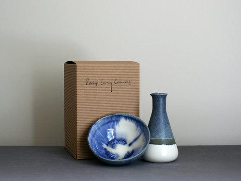 Milk Jug and Sugar Bowl Set-Navy Blue