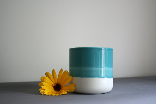 Small Teal Blue Planter