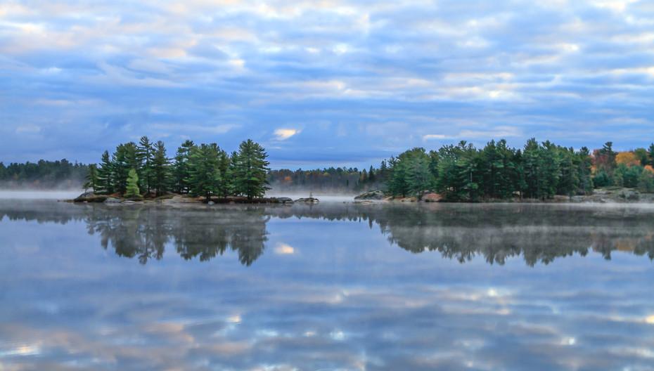 Fall reflections at the Blue Hour
