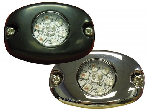 6-Pack LED Hide-A-Blast Chrome Bezel
