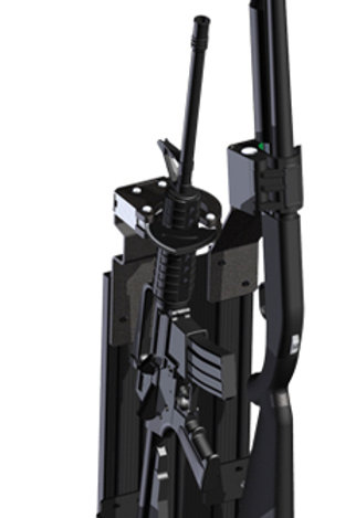 Blac-Rac Double Vertical Weapon System