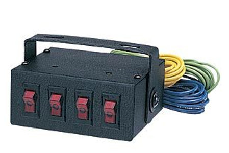 4 Position Switch Box w/ 1 High Amp Switch
