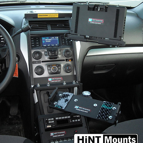 On-Dash Mount for Tablet Style Computers with Keyboard Mount