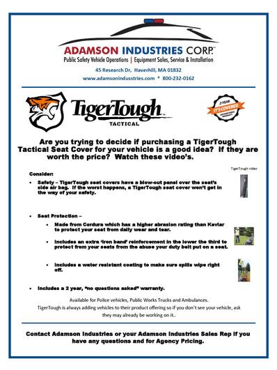 Adamson Industreis Product Spotlight - T