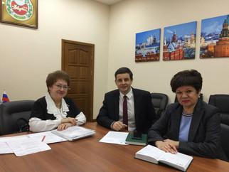 На встрече с Лёминым А. В., Главой г. Абакана и Кацебиной И. В., зам. Главы города состоялось обсужд