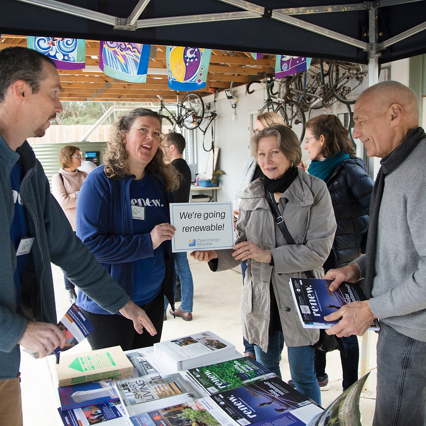 The Nillumbik Bulk Buy Information Stand at Eltham Farmers Market