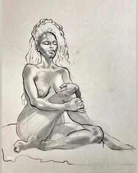 Sitting Nude 1