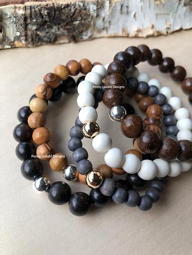 Wood Bracelet - White
