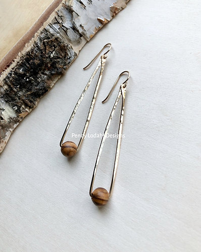 Londyn Earrings - Olive Wood