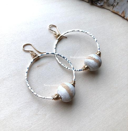 Londyn Drop Earrings - White