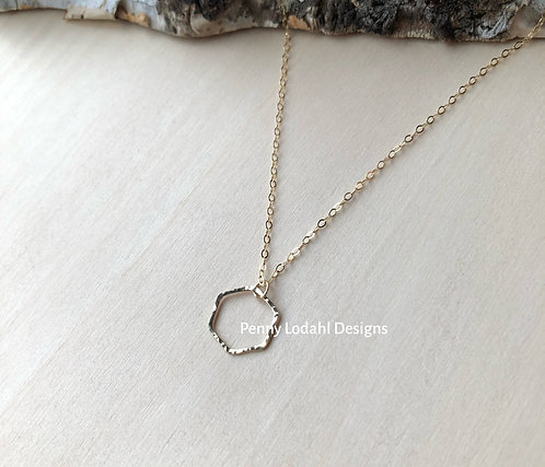 Dainty Hexagon Dangle