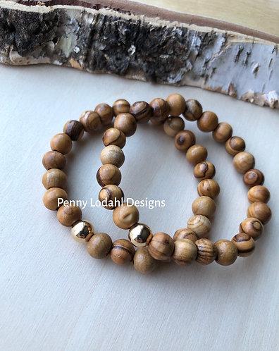 Olive wood bracelet - 8mm