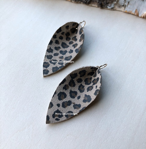 Leather Leaf - Leopard Print