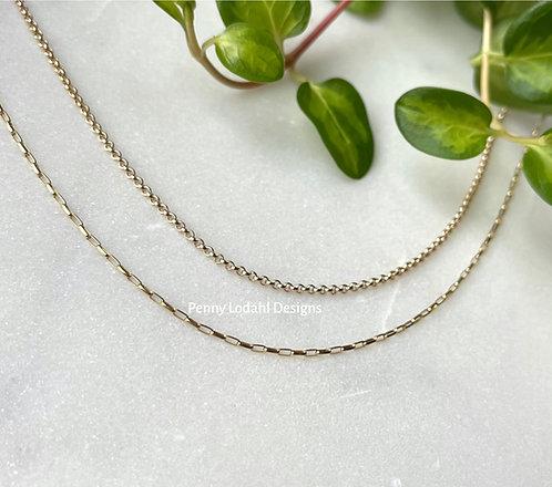 Rectangular Rolo Chain