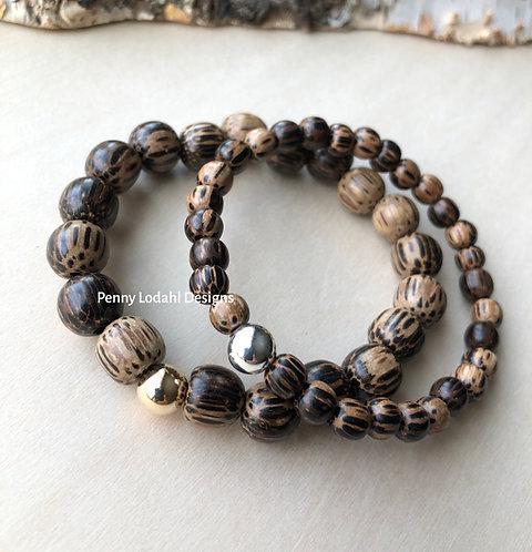 Wood Beaded Bracelet - PKW