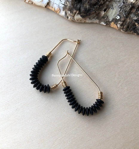 Oblong Hoops - Black