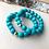 Thumbnail: Wood Bracelet -Turquoise