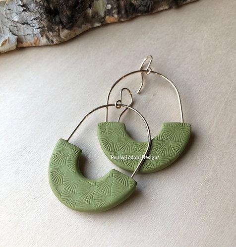 The Layla Earrings - Olive