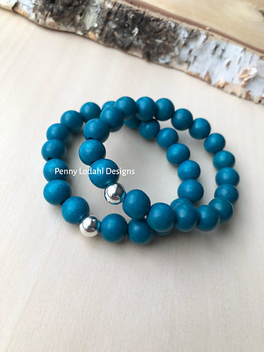 Wood Bracelet -Dark Blue