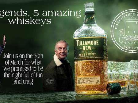 March 2021 - Tullamore Distillery Tasting Event