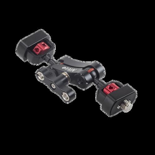 "NITZE Double Ballhead Magic Arm 1/4""-20 to 3/8""-16 With ARRI Locating Pins N50D"