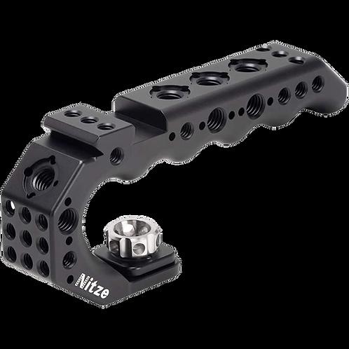 "NITZE Stinger 3/8"" Arri Locating Pins Handle w/N40C Cold Shoe PA28-BK"