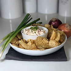 French Onion Dip & Potato Chips