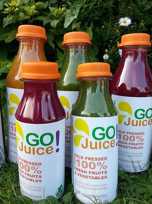 GO Juice Detox Juices (x6)